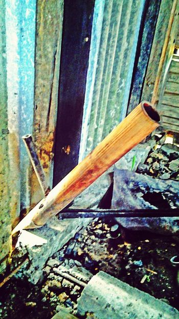 Our bersion of smoke pipe! made out from bamboo. VillagePeople Bidayuh Borneo Oldschool
