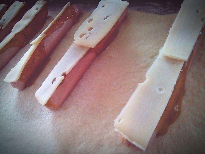 Készül a házi, sült, laktózmentes sajtos hot-dog :) Home Hot-dog Cheese LactoseFree