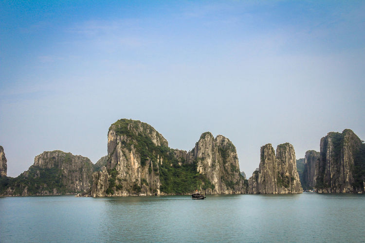 Nice Halong Bay Vietnam Halong Bay Vietnam Halong Bay  Halong Bay Cruise Vietnam Water Sky Sea Beauty In Nature Scenics - Nature Waterfront Nature Nautical Vessel Tranquil Scene Clear Sky Day Tranquility Rock No People Copy Space Transportation Mountain Cliff Outdoors Formation Sailboat Stack Rock Bay