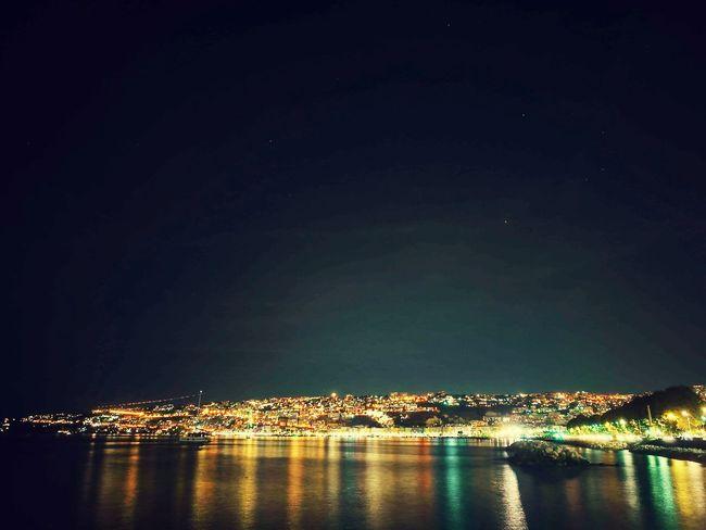 Neapel Sea Lights Colourfulll Italy Citytrip Traveltime City Night Dark Water Nightphotography