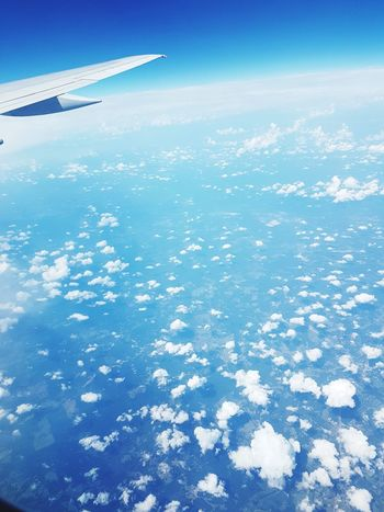 Airplane Aircraft Wing Flying Blue Mid-air Outdoors Clouds And Sky Wish Me Luck Beauty In Nature Sunlight thankful Dreams