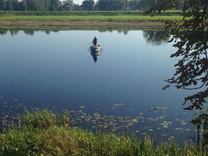 Boat Calm Fishing Lake Lakeshore Nature Reflection Relaxing Moments River Scenics Standing Water Tranquility Water