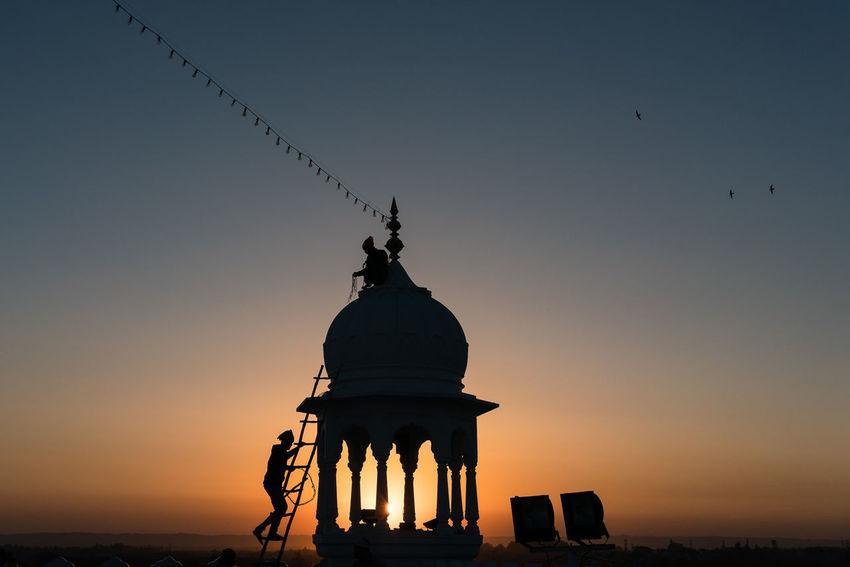 ANANDPURSAHIB Anandpur Sahib Everyday Lives India Punjab Travel Travel Photography Architecture Dome Outdoors Silhouette Sky Street Photography Sunset