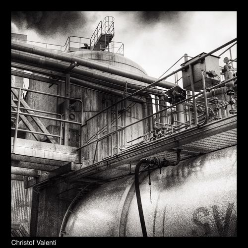 Black & White Black And White Photography Industrial Work HDR Collection North Trucking Sweden Morning Hdr_Collection Streamzoofamily