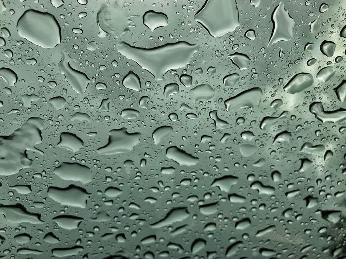 Full Frame Backgrounds Wet Drop Water Rain RainDrop Textured  Rainy Season Glass - Material Window No People Close-up Nature Pattern Day Monsoon Outdoors Purity Dew