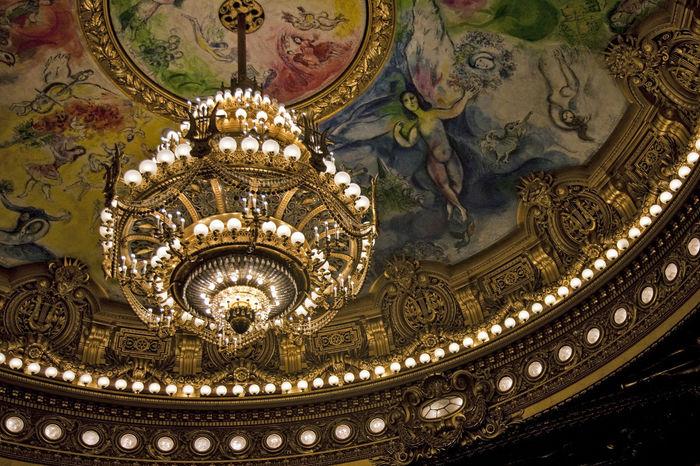 Architecture Art Ceiling Decoration Design France Garnier Ornate Theater Ópera De Paris
