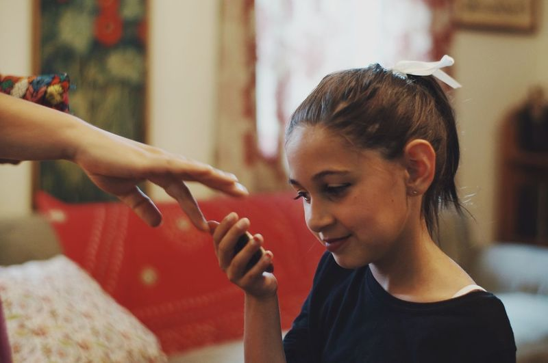 checking make-up. People Together Showcase July Showcase: July Makeup Close Up Preparation  Theater Child Family Touching Hands Learning My Year My View