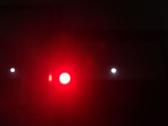 Breaking the monotones Lights Illuminated Red Night Moon No People Indoors  Sky Space Astronomy