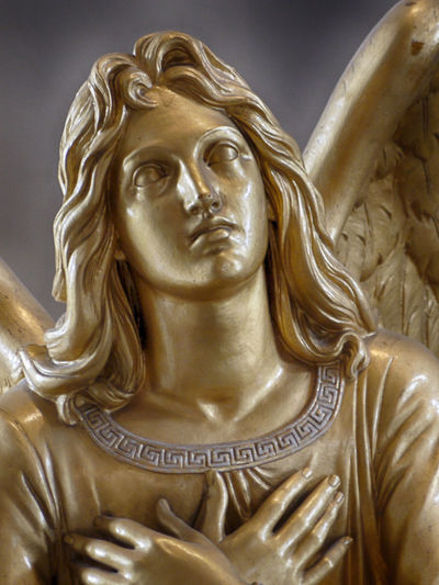 Close-Up Of Golden Angel Statue