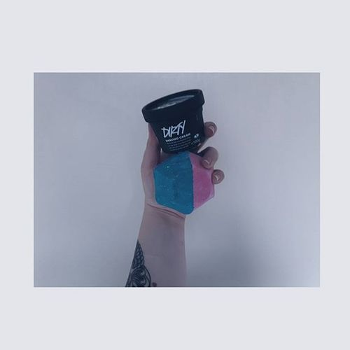 Pamper time to feel better Pampernight Pamper Feelbetter Lush Lushcosmetics Dirtyshavingcream Dirtyshave Experimentalbathbomb Experimental Colour Colour Lush Lushaddict Grunge Girlwithtattoos  Victoriantattoo Armtattoo Fightagainstanimaltesting Fightanimalcruelty