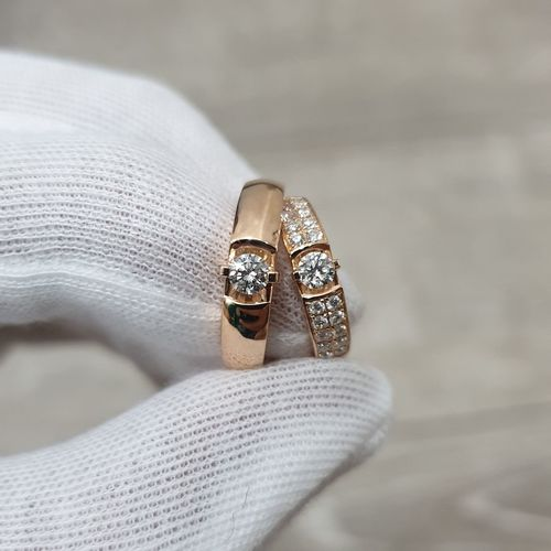 Cropped hand holding rings