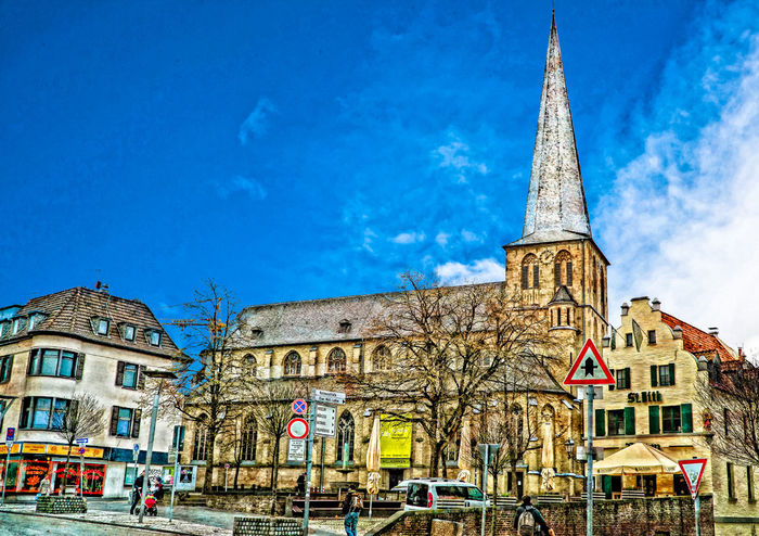 Münsterkirche in der Oberstadt. Architecture Blue Building Exterior Built Structure Church City Cultures Day History Kerk Kirche Outdoors Place Of Worship Religion Sky Tourism Travel Travel Destinations