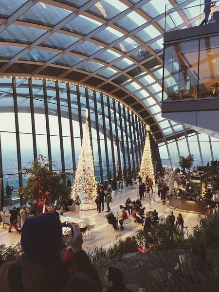 Built Structure Large Group Of People Architecture Real People Leisure Activity Travel Destinations Tourist Women Men Tourism City Life City Religion Tree Place Of Worship Spirituality Building Exterior Day Outdoors Crowd Sky Garden Tree Christmas Tree Lights Vacations Coffee Time