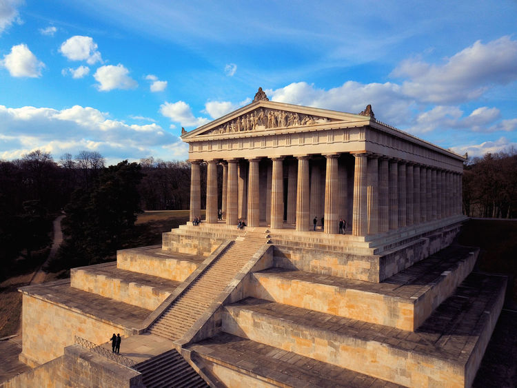 Bavaria Memorial Regensburg Architecture Bayern Building Exterior Built Structure Cloud - Sky History Sky Staircase The Past Travel Travel Destinations Walhalla Walhalla Memorial