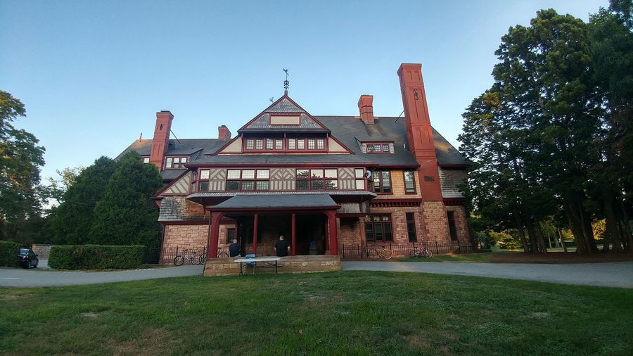 William Watts Sherman House University Campus Salve Regina Dormitory Mansion Gilded Age Newport Tree City Museum History Gate Cultures Sky Architecture Eaves Entryway Façade Place Of Interest Entry