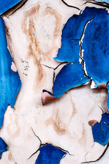 Blue No People Damaged Close-up Full Frame Old Wall - Building Feature Paint Backgrounds Textured  Weathered Decline Deterioration Creativity Art And Craft Cracked Pattern Abandoned Architecture