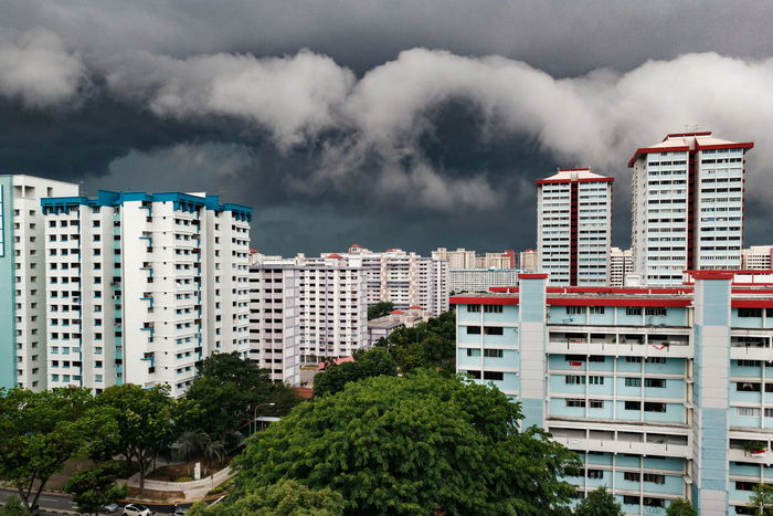 Apartment Home Ownership Residential Building Cityscape Cloud - Sky Environment Architecture Storm Cloud Urban Skyline Nature Hdb Sky Housing Estate HDB Flats Bedok Singapore Storm Cloud Weather