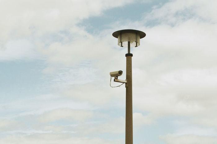 Berlin Security Camera Cloud - Sky Communication Day Electricity  Kamera Low Angle View Nature No People Outdoors Perching Security Camera Sky Street Light Technology überwachung überwachungskamera