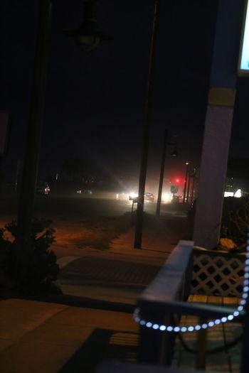 Illuminated Misty Myterious Night No People Outdoors Street Street Light