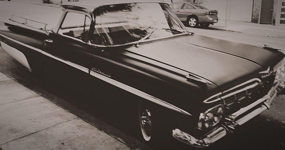 Street Style EyeEm Best Shots - Black + White Vintage Car Blackandwhite El Camino Mobilephotography Up Close Street Photography