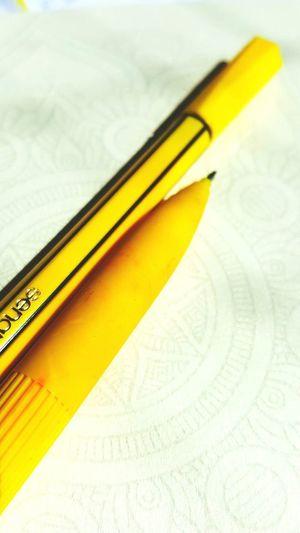 Pencil Close-up Yellow Mandala Paint The Town Yellow