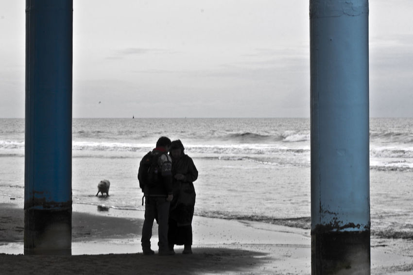 Impressions of the pier and beach at Scheveningen, the beach resort of The Hague in the Netherlands. Den Haag Nederland Netherlands Scheveningen  Scheveningen Beach The Hague Adult Adults Only Beach Day Friendship Horizon Over Water Leisure Activity Men Nature Outdoors People Real People Rear View Sand Scheveningen Pier Sea Sky Standing Togetherness Two People Water Women