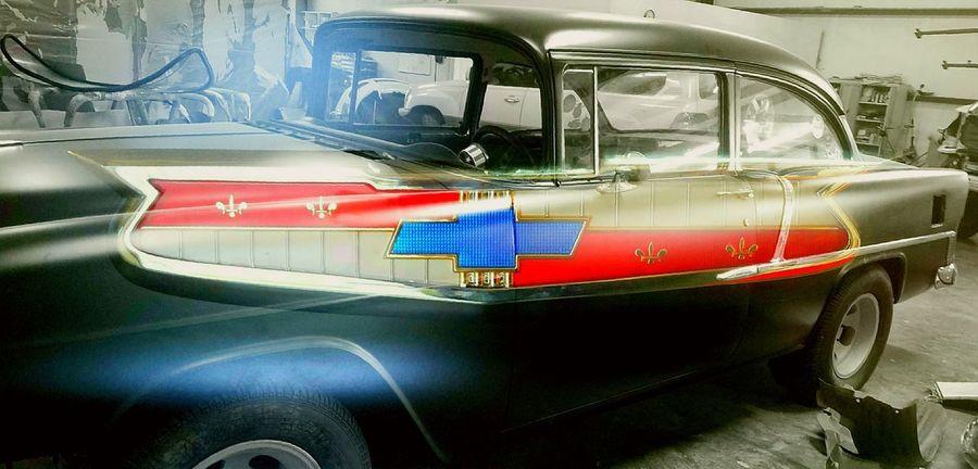 Transportation 55 Chevy Antique Antique Car Chevrolet Land Vehicle Mode Of Transport Old-fashioned Transportation Car