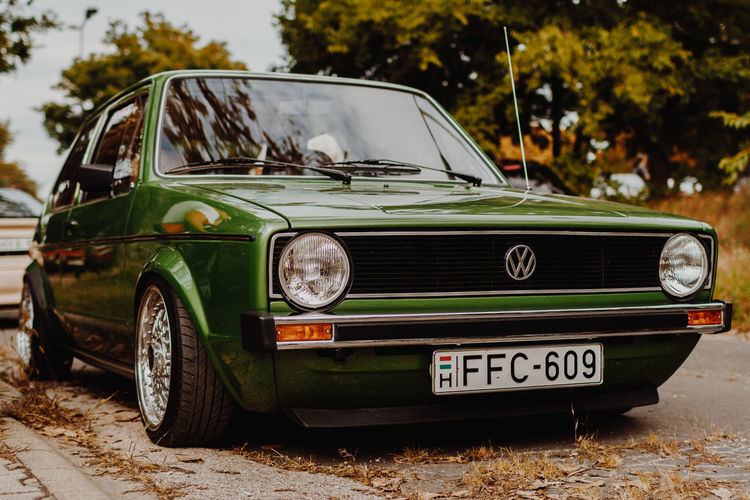 Car Old-fashioned Vintage Car Retro Styled Collector's Car Front View Antique Transportation Full Length Day Outdoors No People Sky Volkswagen Volkswagenperformance Vscofilm Vscodaily Moodygrams VSCO Vscocam Vscogood Vscophile Cars CarShow Volkswagen Golf GTI