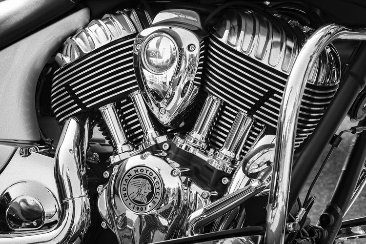 Indian Motorcycle Engine Chrome Clean Close-up Engine Full Frame High Angle View Indoors  Land Vehicle Machine Part Machinery Metal Mode Of Transportation Motor Vehicle Motorcycle No People Pipe - Tube Silver Colored Steel Still Life Technology Transportation Vehicle Part