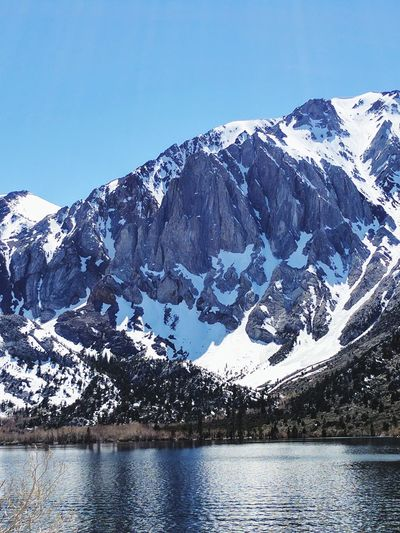 Lake View Snowcapped Mountain Beauty In Nature Landscape Convict Lake