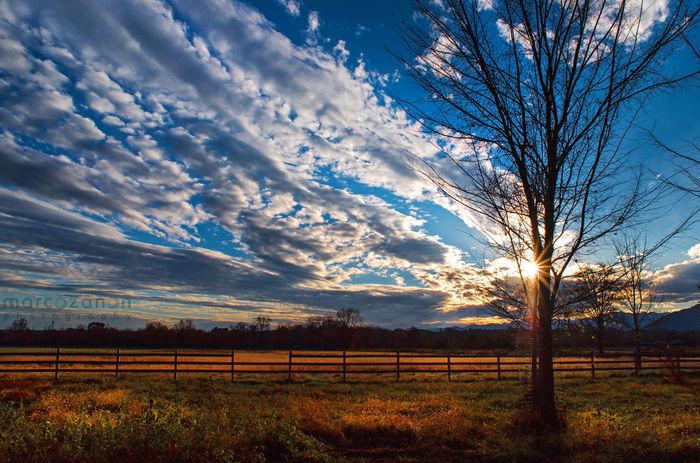 Campo Cloud - Sky Field Landscape Outdoors Sky Staccionata Sunset