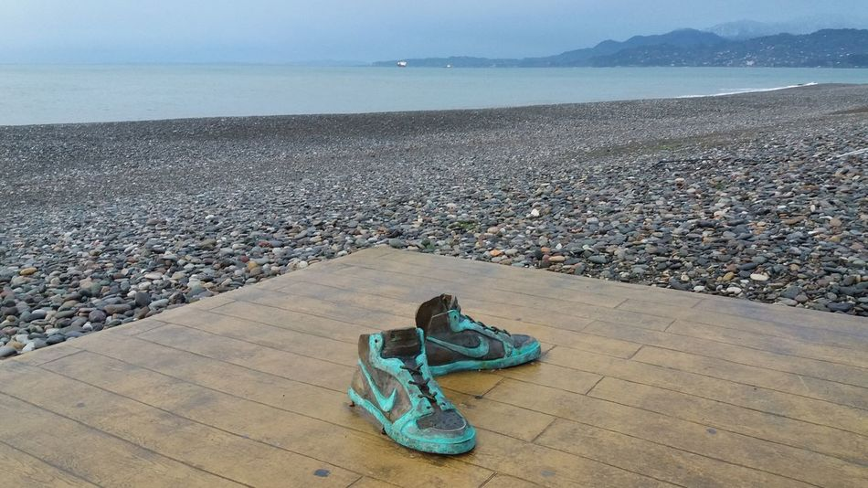 Batumi Sculpture #Georgia #batumi #outdoor Stories From The City Water Sea Beach Sand Blue Horizon Over Water Shore Sandy Beach