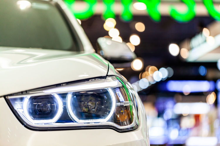 Car Close-up Day Focus On Foreground Glass - Material Headlight Illuminated Land Vehicle Lighting Equipment Luxury Mode Of Transportation Motor Vehicle No People Outdoors Reflection Retro Styled Stationary Transportation Travel Wealth