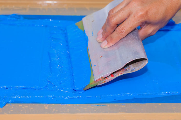 Cropped Image Of Person Screen Printing