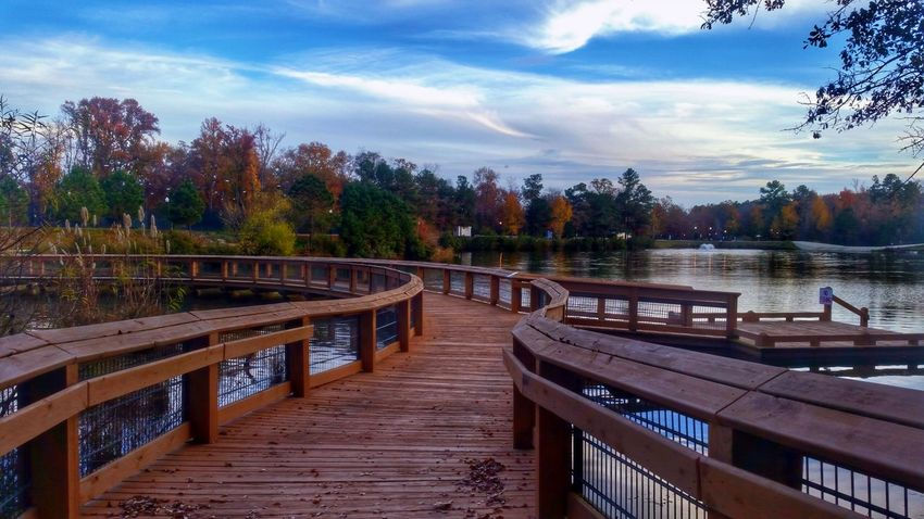 Footbridge in the Fall Landscape Landscape_Collection Beauty In Nature Water_collection Water Reflections Reflection Reflections Sky Clouds And Sky Autumn Colors Autumn Leaves Autumn🍁🍁🍁 Fall Fall Beauty Fall Colors HDR Hdr_Collection Hdr Edit Tree Autumn Railing River Night Bridge - Man Made Structure Cloud - Sky Water Nature No People Forest Outdoors