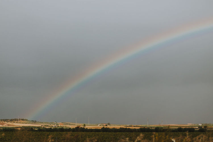 Rainbow Scenics - Nature Beauty In Nature Multi Colored Sky Landscape Environment Tranquility Tranquil Scene Spectrum Outdoors Rural Scene SPAIN