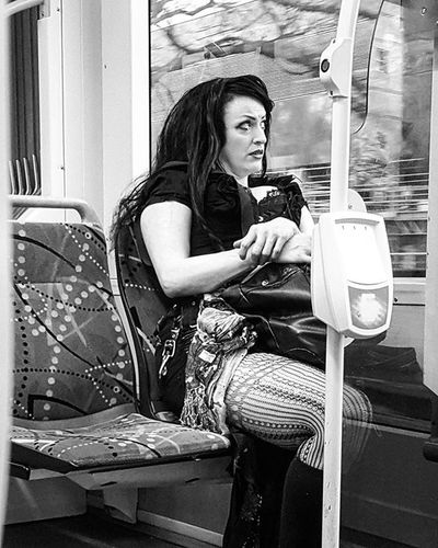 Regardless of our strength.... Regardless of our surety in ourselves... There are those days, where we look for the emergency break on our journey. . I hope her day got better. . Transport Street Candids and my pre Caffinated Rambling Blackandwhitephotography Blackandwhitelove Insta_bw Bnw_society Bnw Bnw_australia Bnw_captures Bnw_city MichaelsCamera TheCreatorClass EyeEm Eyeemphoto Justgoshoot Streetlife_mag Main_vision Profile_vision Justgoshoot The_lady_bnw