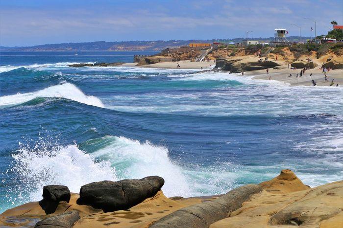 Beach Photography Been There. Daytime La Jolla Beach La Jolla, California Nature San Diego Sunny Beach Been There, Done That La Jolla Ocean Outdoors Waves Waves And Rocks Waves Crashing On Rocks