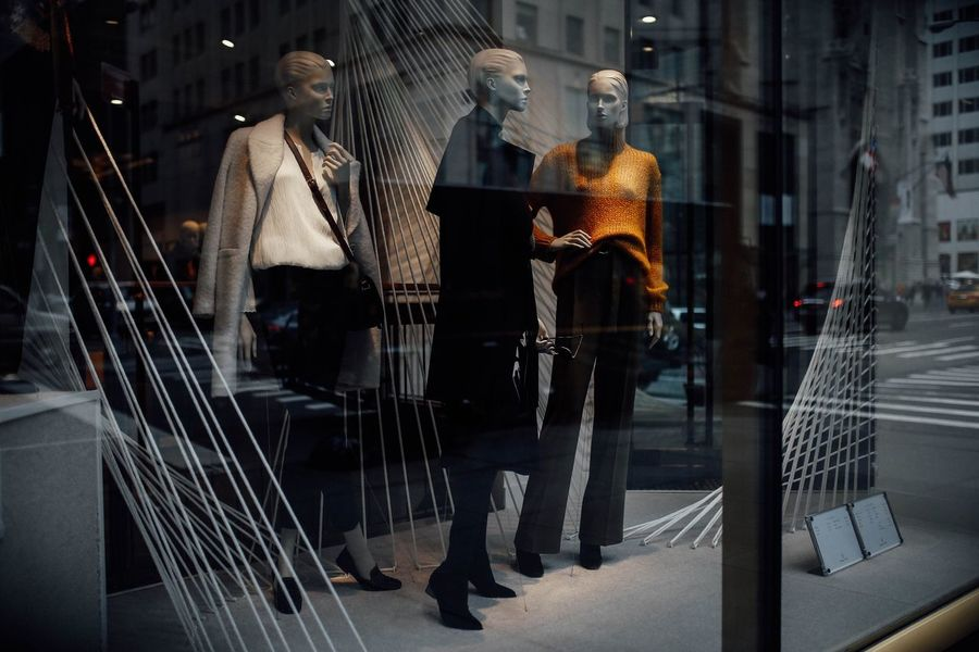 Mannequin Standing Display New York New York City Fashion