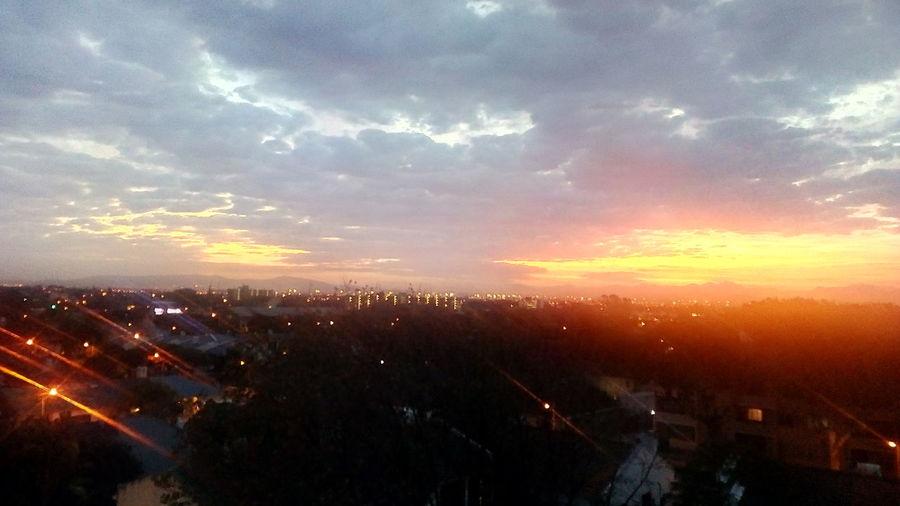 Sunrise Multi Colored Beautiful Nature Clouds