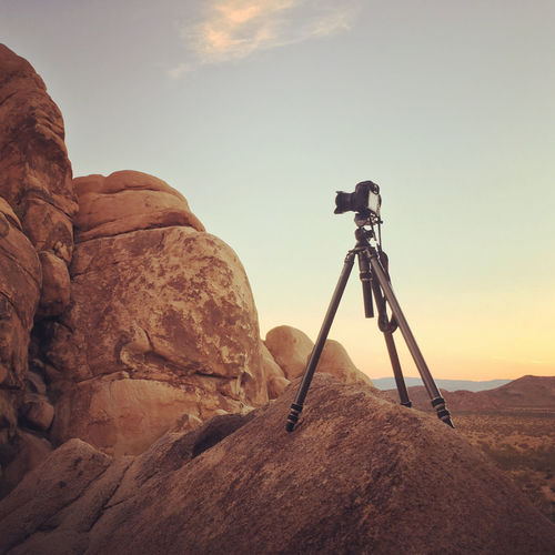 Beauty In Nature Day Mountain Nature No People Outdoors Photography Themes Rock - Object Sky Technology Tripod