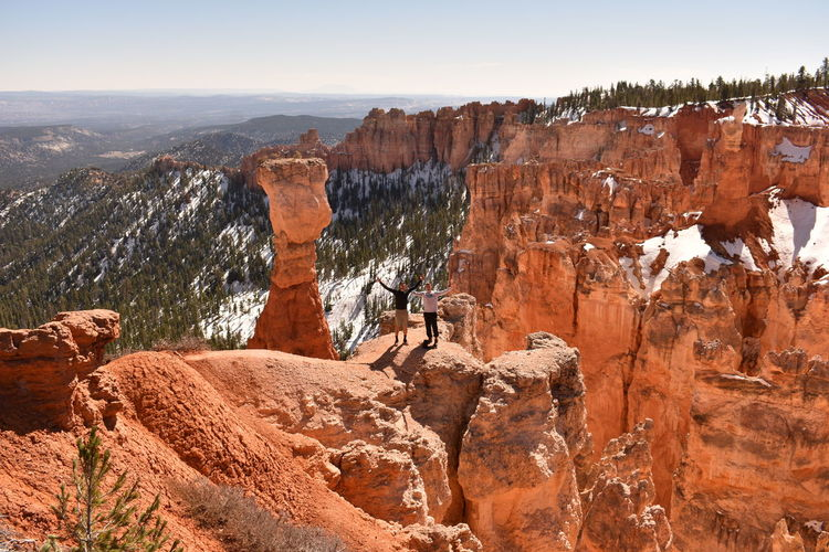 View of two people in bryce canyon