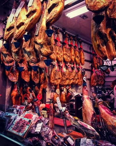 For Sale Hanging No People Store Market JamonSerrano Jamon Jamon Serrano The Traveler - 2018 EyeEm Awards