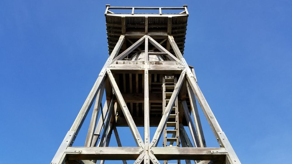 Mendo tower. EyeEm Best Shots Watertower Clear Sky Sky Built Structure Underneath Geometric Shape