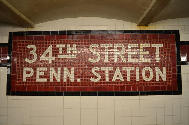 34th Street  Mosaic New York New York City New York City Subway Station Subway Subway Station