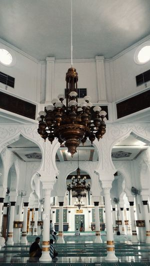 Inside Baiturrahman Lamps Banda Aceh INDONESIA