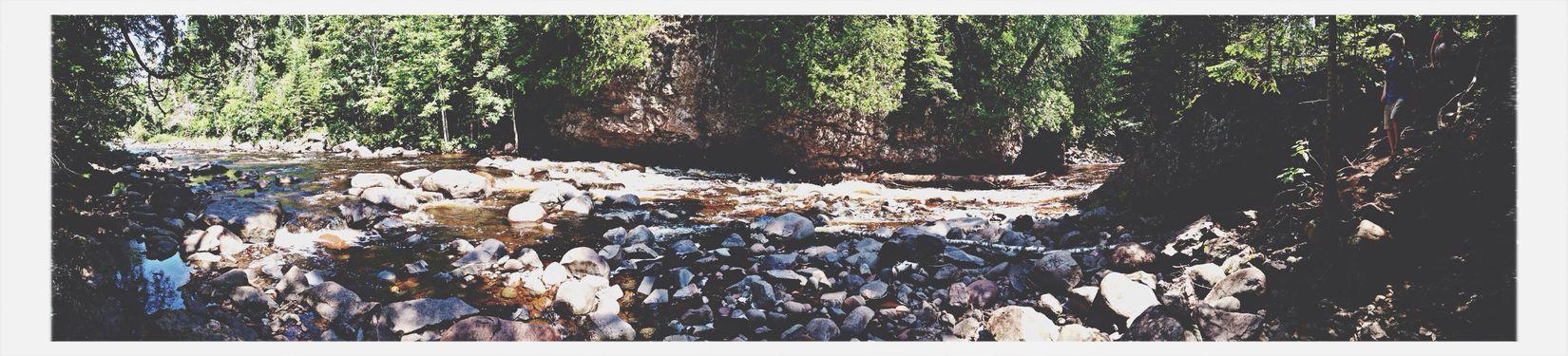River panorama River Rocks Nature Wild