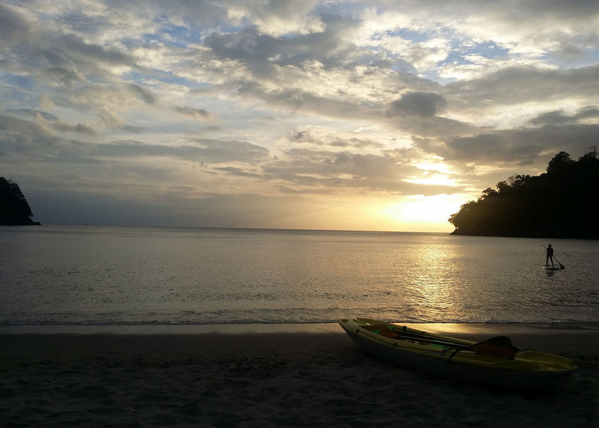 Playa La Caleta, Bagac, Bataan, Philippines Island Cove Sunset Silhouettes Sunset And Clouds  Sunset_collection Beach Beauty In Nature Cloud - Sky Day Dusk Horizon Over Water Kayak Nature No People Outdoors Private Beach Sand Scenics Sea Silhouette Sky Sun Sunset Sunsets Tranquil Scene Tranquility Tree Water