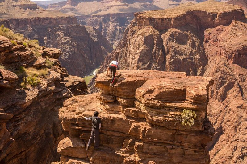Guiding Rock Climbing Rock Climber Great Outdoors - 2016 EyeEm Awards Being Adventurous Grand Canyon Plateau Point