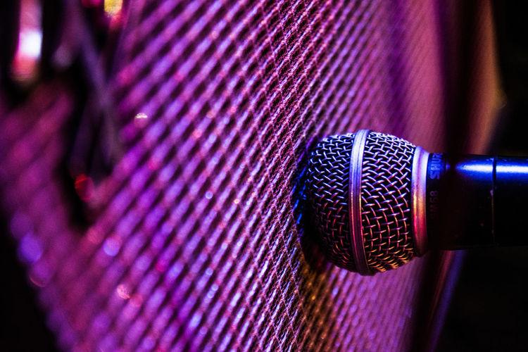 Fender Live Music Mic Music Pub Shure Amplifier Concert Iluminated Indoors  Microphone Nightclub